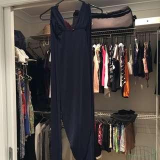 Beginning Boutique Navy Wrap Dress - Size 8