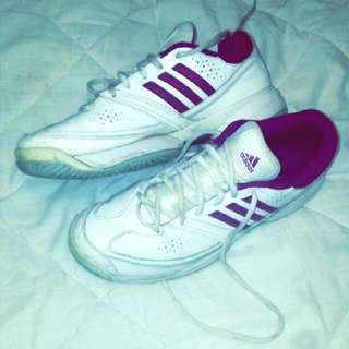 Old fashioned Pink And White Addidas Runners
