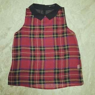 Scottish Style Top (Chiffon)