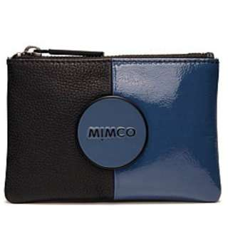 BRAND NEW WITH TAG MIMCO 2 TONE PRUSSIAN BLUE POUCH