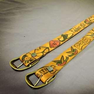 日本購入,純手工真皮雕刻皮帶