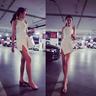 全白 簡約洋裝