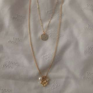 Gold Coloured Multi Layer Necklace