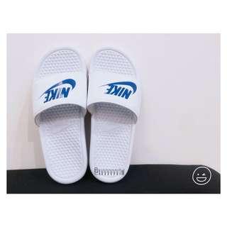 [現貨] Nike✔️ 拖鞋 藍色 勾勾 白