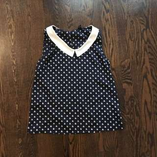 Sleeveless Nautical Top