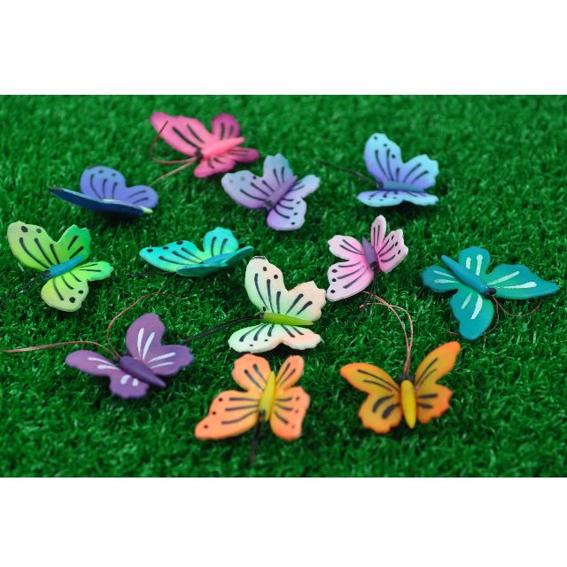 garden ornaments and accessories. 3 Miniature BUTTERFY (Assorted Colour), SQUIRREL For Terrarium / Mini Garden Ornaments Accessories And