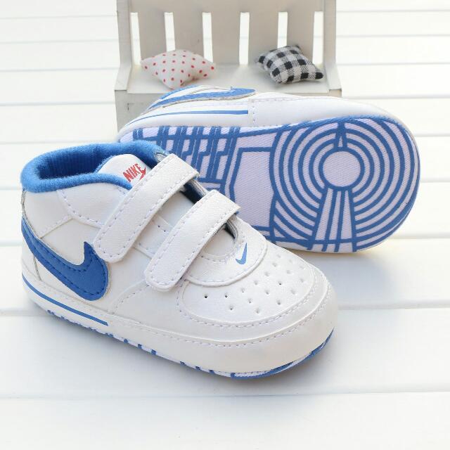 新款運動風軟布底學步鞋   藍色款