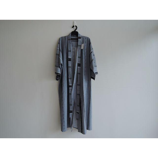 日本製 印花圖騰鐵灰和服浴衣 男