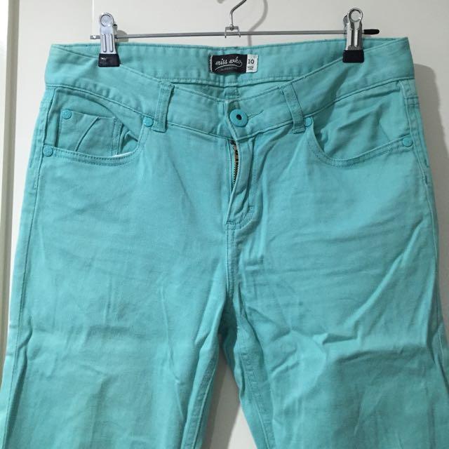 Aqua Blue Jeans