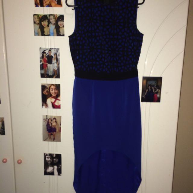 Asos Navy And Black Dress