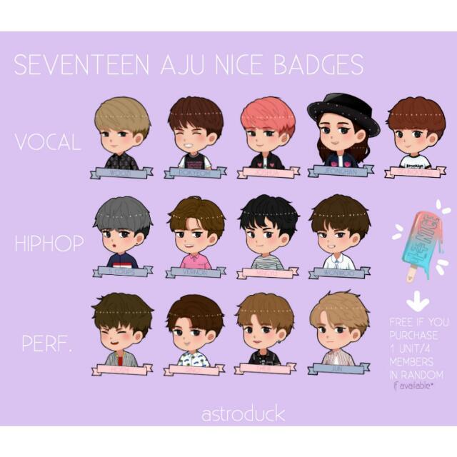 Astroduck's Seventeen Aju Nice Badges