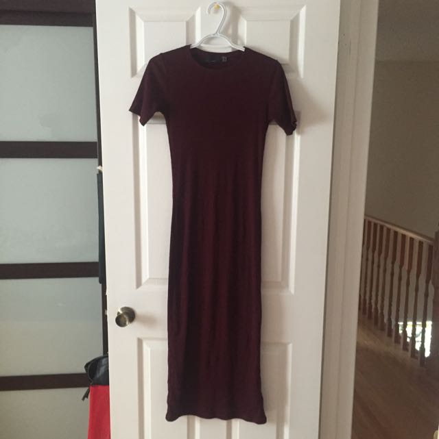 Bodycon Ribbed Midi Dress