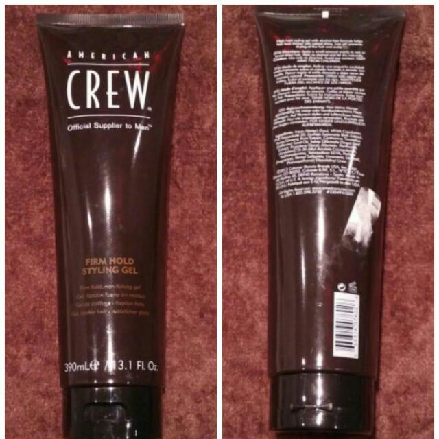 Brand New American Crew Firm Hold Styling Gel