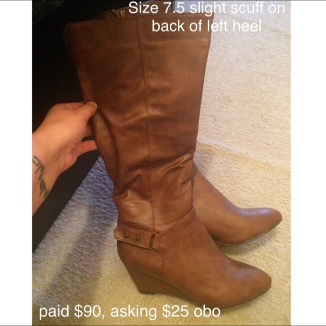 Brown Wedge Boots