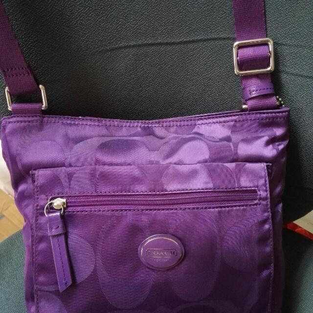 Coach Purple Body Bag..original