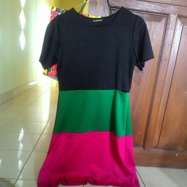 Color Block Dress (Brand: Bebe)
