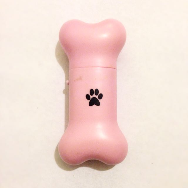 Cute Pink Portable Bone Shaped Fan - AA Batteries Not Included