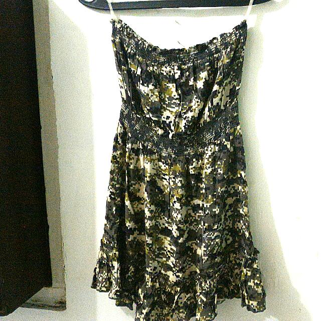 Forever 21 Tube N Flare Camouflage Casual Dress