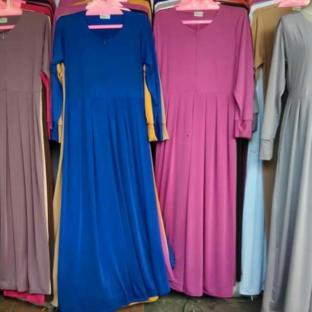 Gamis Polos Babydol  Bahan Jersy  Tersedia Bnyak Warna