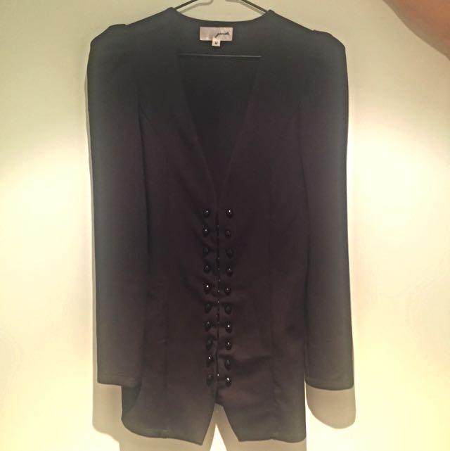Gaudi Black Fashion Blazer