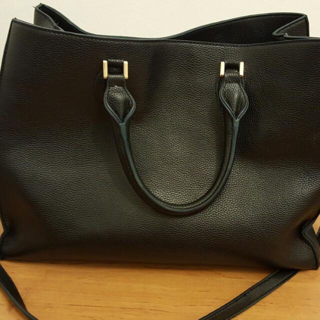 H&M Black Leather Bag