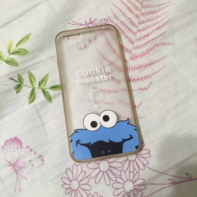 i6 手機殼 殼 cookie monster