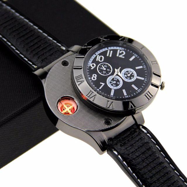 Jam Tangan Mancis Creative Watches USB Powered with Lighter