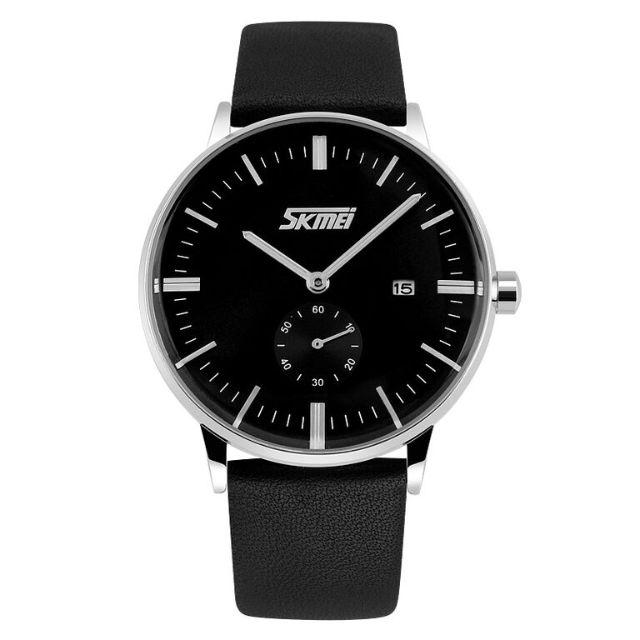 Jam Tangan SKMEI Casual Men Leather Strap Watch Waterproof 30m
