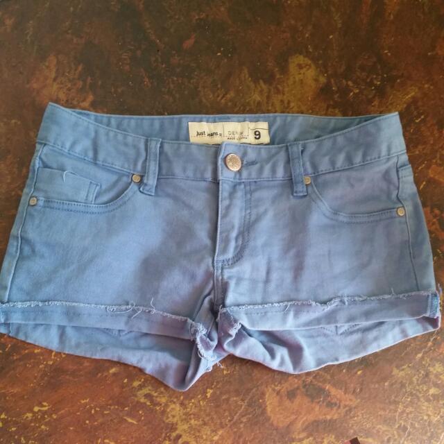 Just Jeans Women's size 9 Denim Blue Shorts
