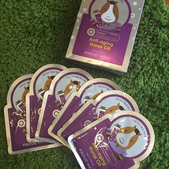 Masker Anti Aging Horse Oil - Masker Animal Pack
