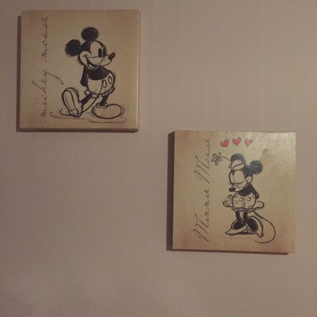 RESERVED. Mickey & Minnie Mouse Wall Decor