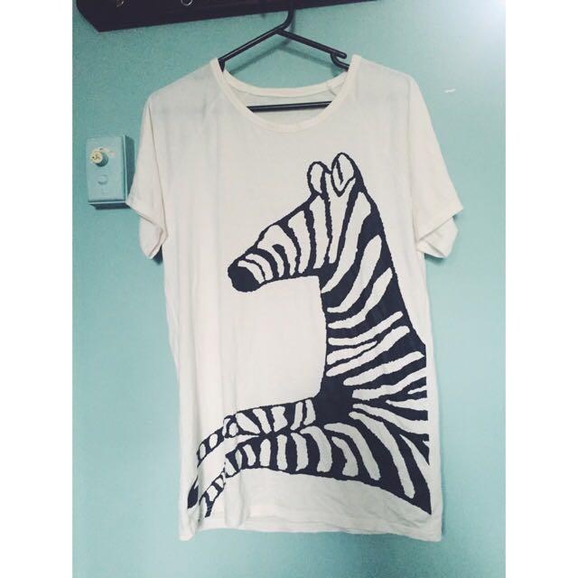 Oversized Zebra Shirt