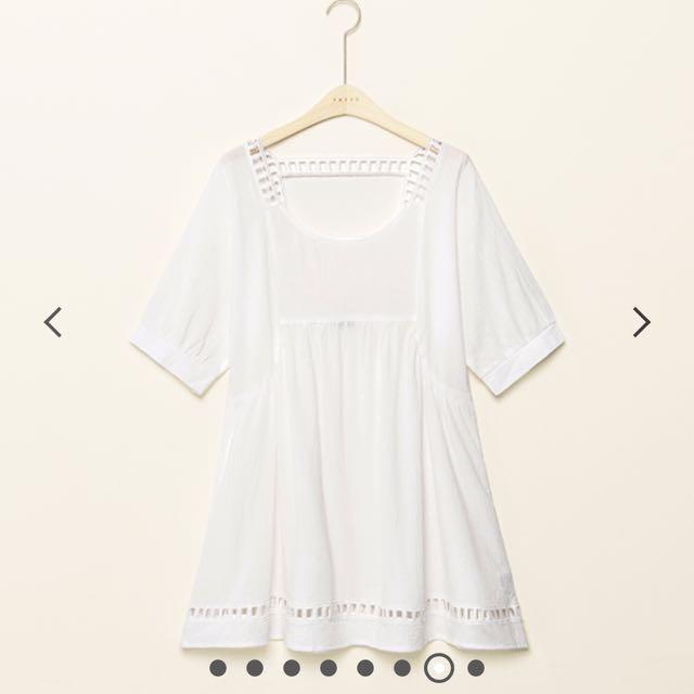 Pazzo夏日寬鬆露背洋裝簍空 漢娜