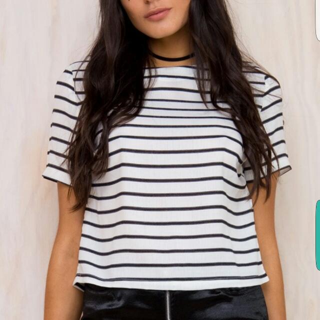 PRINCESSPOLLY Stripe Shirt S/8