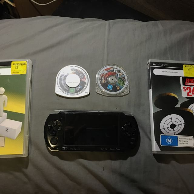 PSP 3000 and 2 Games