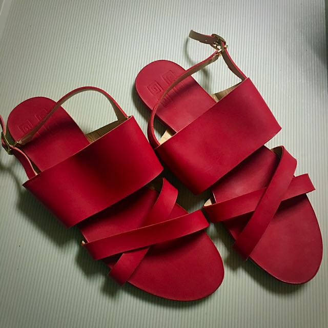 Red Cindy Sandals