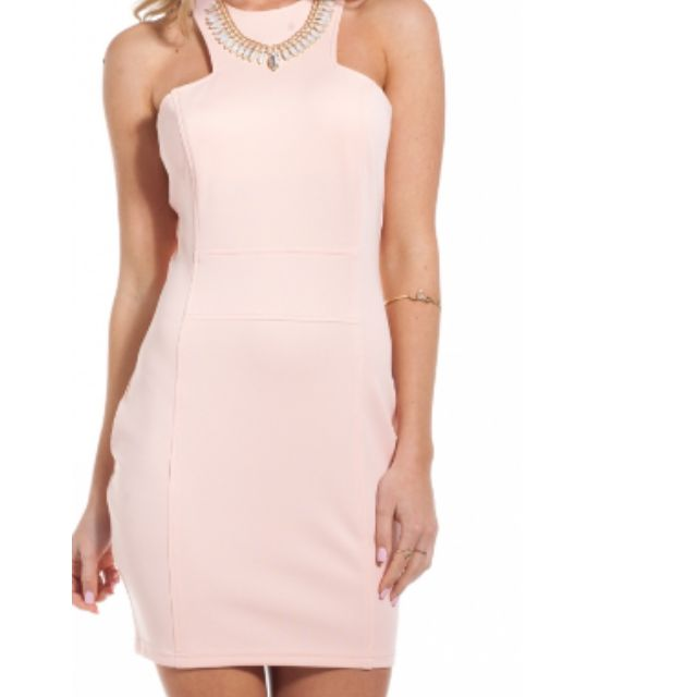 SHOWPO Peach Bodycon Dress