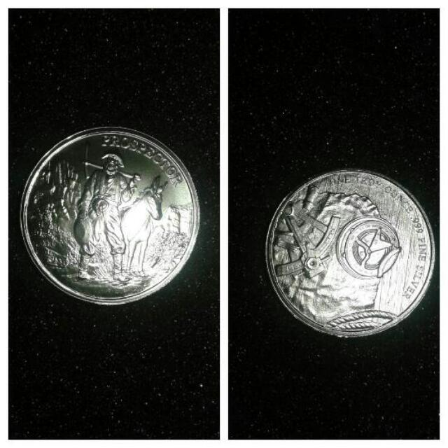 The Prospector 1oz. Silver Round