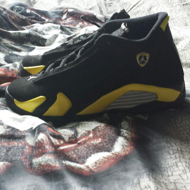 Thunder 14's Jordan black and Yellow