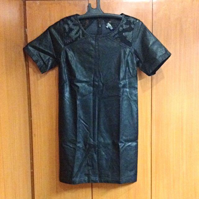 Zalora Collection Faux Leather Dress