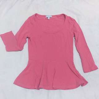 Cotton On Coral 3/4 Top