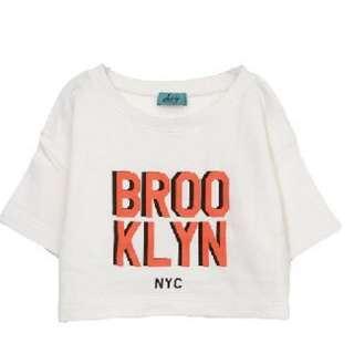 Brooklyn 布魯克林 英文字 短T