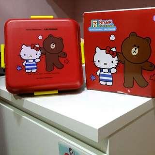 泰國版 熊大+Hello Kitty 便當盒
