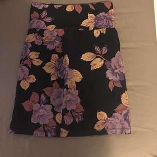 Aritzia Floral Skirt