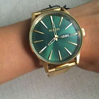 Nixon Sentry SS - Gold/Green Sunray