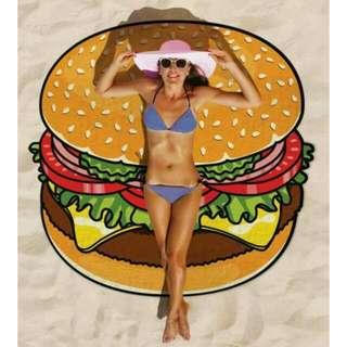 Burger Round Beach Throw