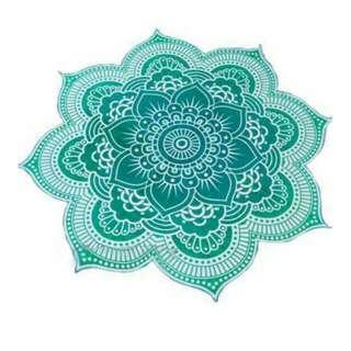 Lotus Flower/Mandala Beach/Yoga Throw