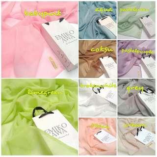 Hijabsquarepolos - Pasminah / Syal / Shawl / Scarf / Hijab