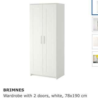 [RSVD] White Ikea Brimnes Wardrobe / Cupboard