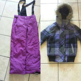 Girls Snow Pants And Winter Coat